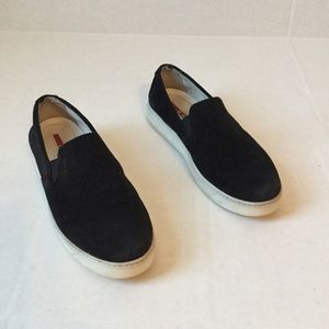 Black Suede Sneakers Prada Slip On size 7.5